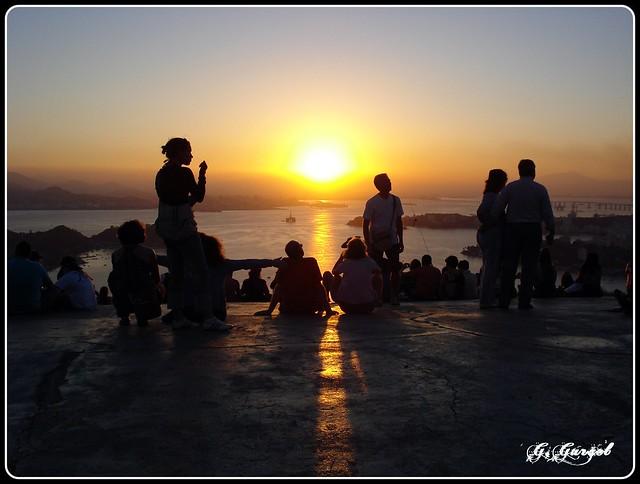 SUNSET / POR DO SOL no Mirante do PARQUE DA CIDADE - Niterói / Rio de Janeiro - Brasil