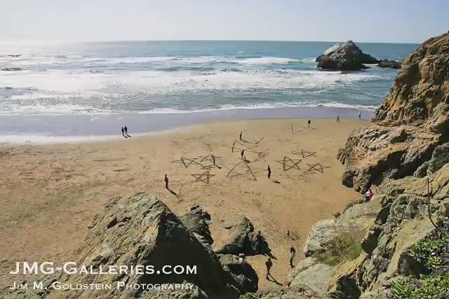 San Francisco Beach Art Time-Lapse