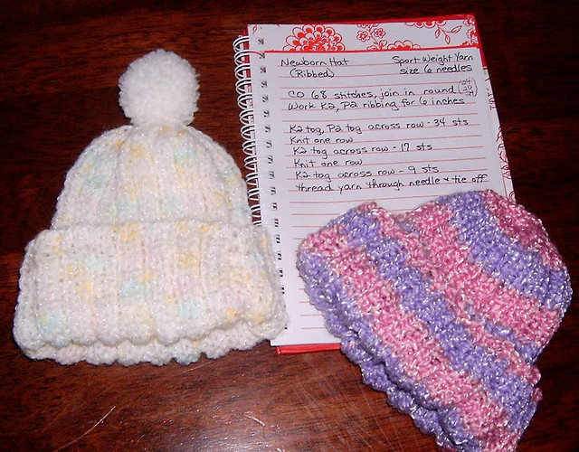 ... Stretchy Ribbed Newborn Hat - In the Round  186095009f5