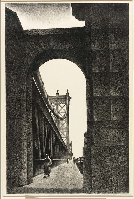 Louis Lozowick: Manhattan Bridge, 1934