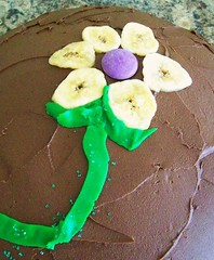 Banana Marble Cake, Decorated