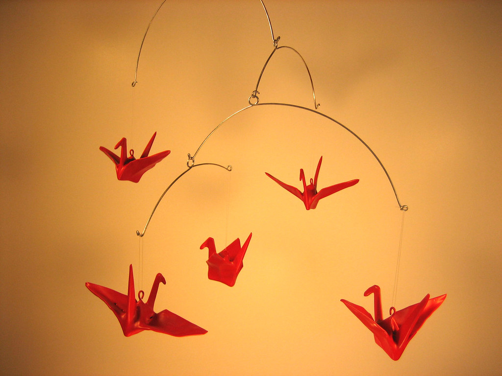Rubber Origami Mobiles