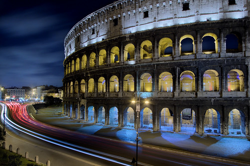 Colosseum at night