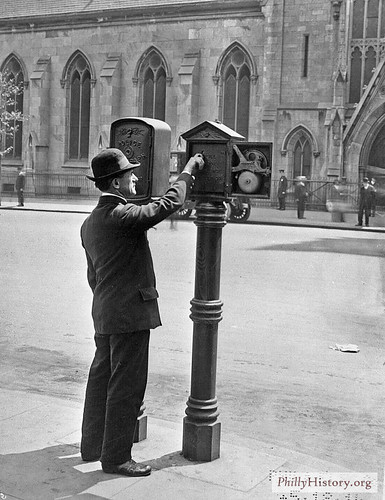 Call Boxes - City Hall Plaza - 1914 | by PhillyHistory.org