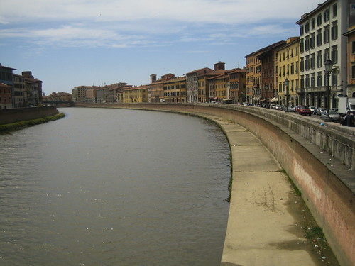 city italy river view pissa florece