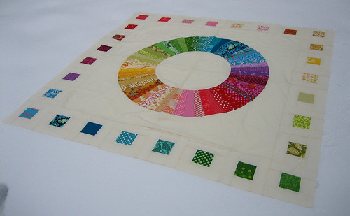 Finished Color Wheel Quilt Top