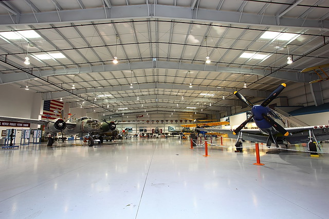 CAF Hangar Mesa Arizona Falcon Field photo through open door