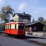 Private hire railcar, Stiege, Harz  Oct 1995