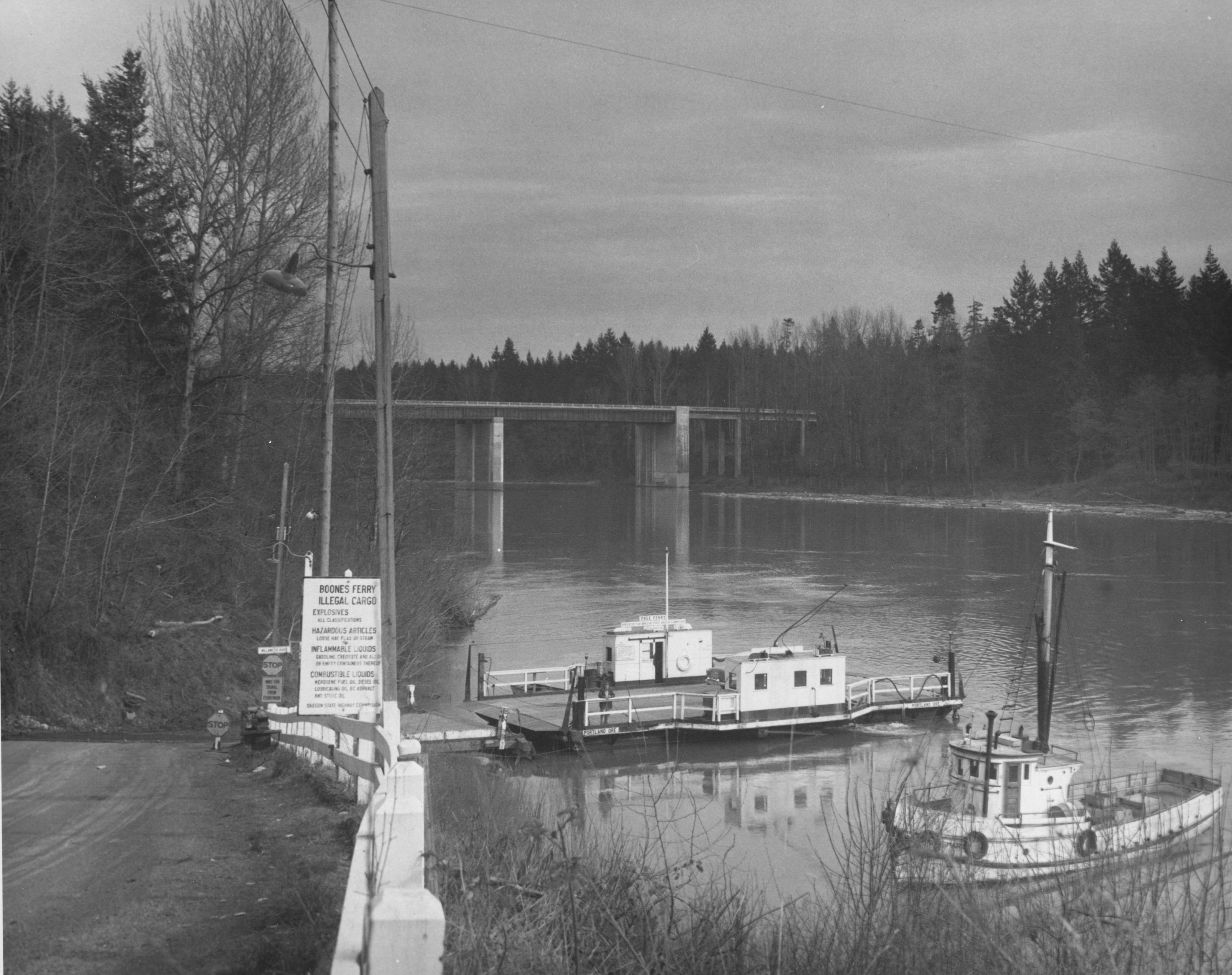 Boone's Ferry on the Willamette River