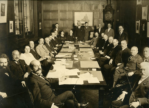 Jacob Schiff in a boardroom