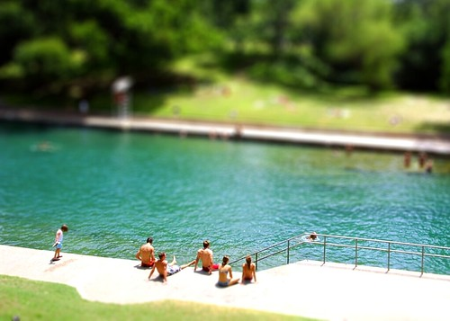 Barton Springs, Austin / tilt shift