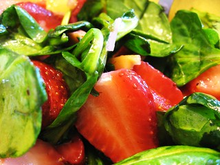 Strawberry + Spinach Salad (Shot A)