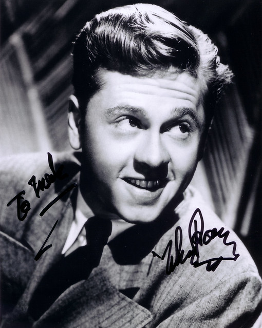 Mickey Rooney Autograph