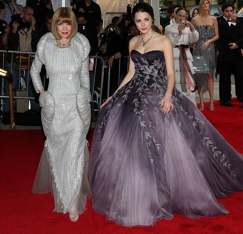 Costume Institute Gala 2008...Anna Wintour and her daughter Bee Shaffer