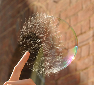 Popping Soap Bubble