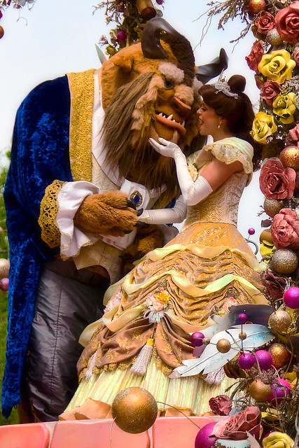 WDW April 2009 - Celebrate a Dream Come True Parade with Belle and Beast