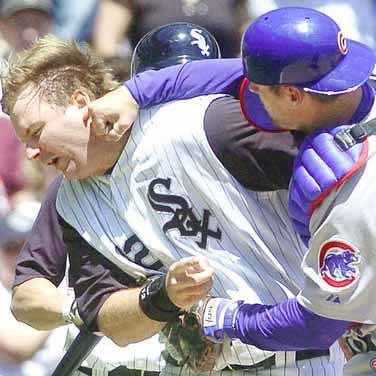 Michael Barrett Punches AJ Pierzynski Because Everyone Knows He Just Had It Coming from Flickr via Wylio