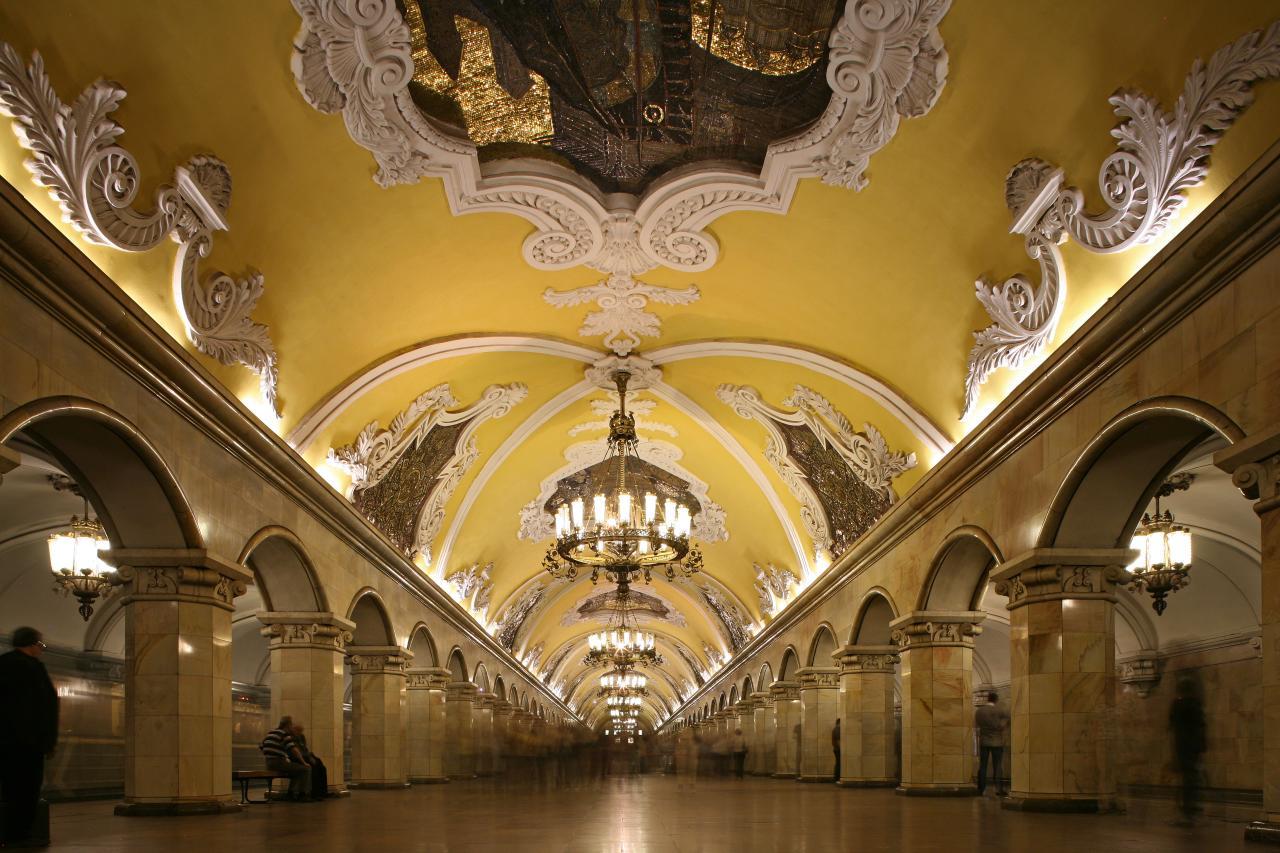 A. V. Shchusev, Komsomolskaia Metro Station (Circle line), Moscow. Opened in 1952.