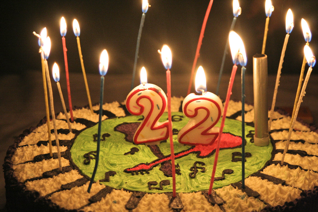 22 Birthday Cake