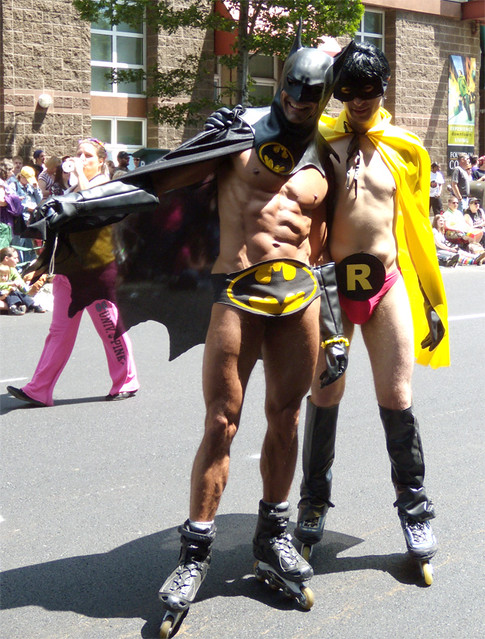 Best of Seattle Gay Pride 2009, Batman and Robin.