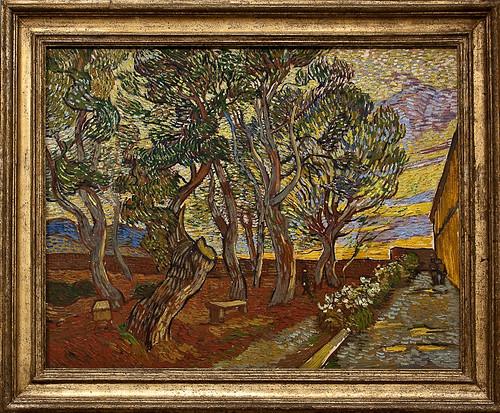 Van Gogh Museum - The garden of St. Paul's Hospital, 1889