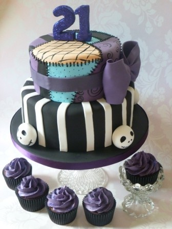 Nightmare before christmas 21st birthday cake