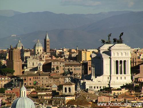 Rome Vittoriano from Pza Garibaldi (Rome in A Day Tour)