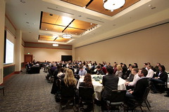 mary bowling speaking to a full house   small busine…
