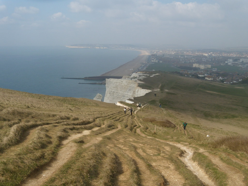 Looking back to Seaford Seaford to Eastbourne