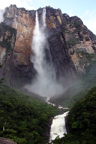 blue sky white green fall water stone angel clouds waterfall rocks venezuela free falls falling highest