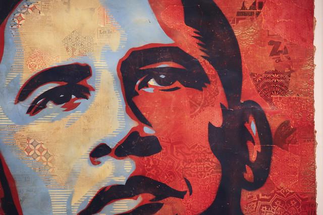 detail of shepherd ferry u0026 39 s obama portrait