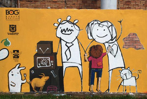 Murales una familia en concreto muralismo en colombia for Mural una familia chicana