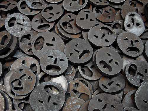 unhappy metal faces