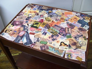 DIY custo table collage vintage