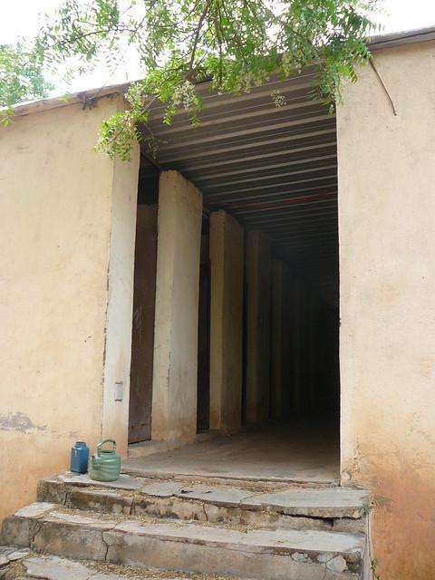 entrance to former udd toilet building at a school l. Black Bedroom Furniture Sets. Home Design Ideas