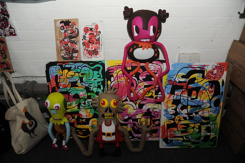 Visiting Jon Burgerman in Nottingham