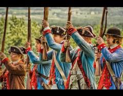 Revolutionary War Reenactors at Saratoga Battlefield