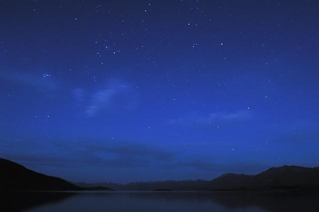 Night sky over Lake Tekapo