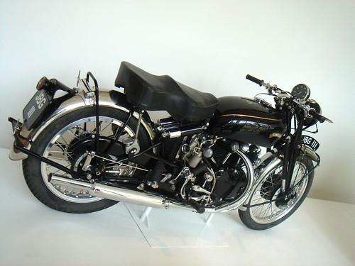 A vintage motorcycle