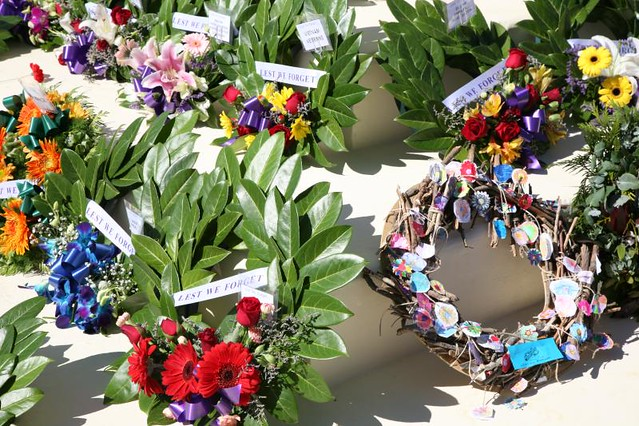 Wreaths, ANZAC Day 2009, Anzac Hill, Alice Springs, Northern Territory ...