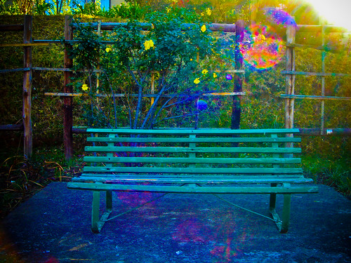 A psychedelic bench at the Drakensberg Sun Resort.