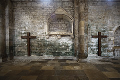 One of the inside church walls of this magnificent abbey in the Bourgogne - France
