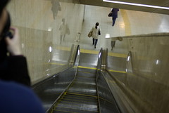 subway, escalator,