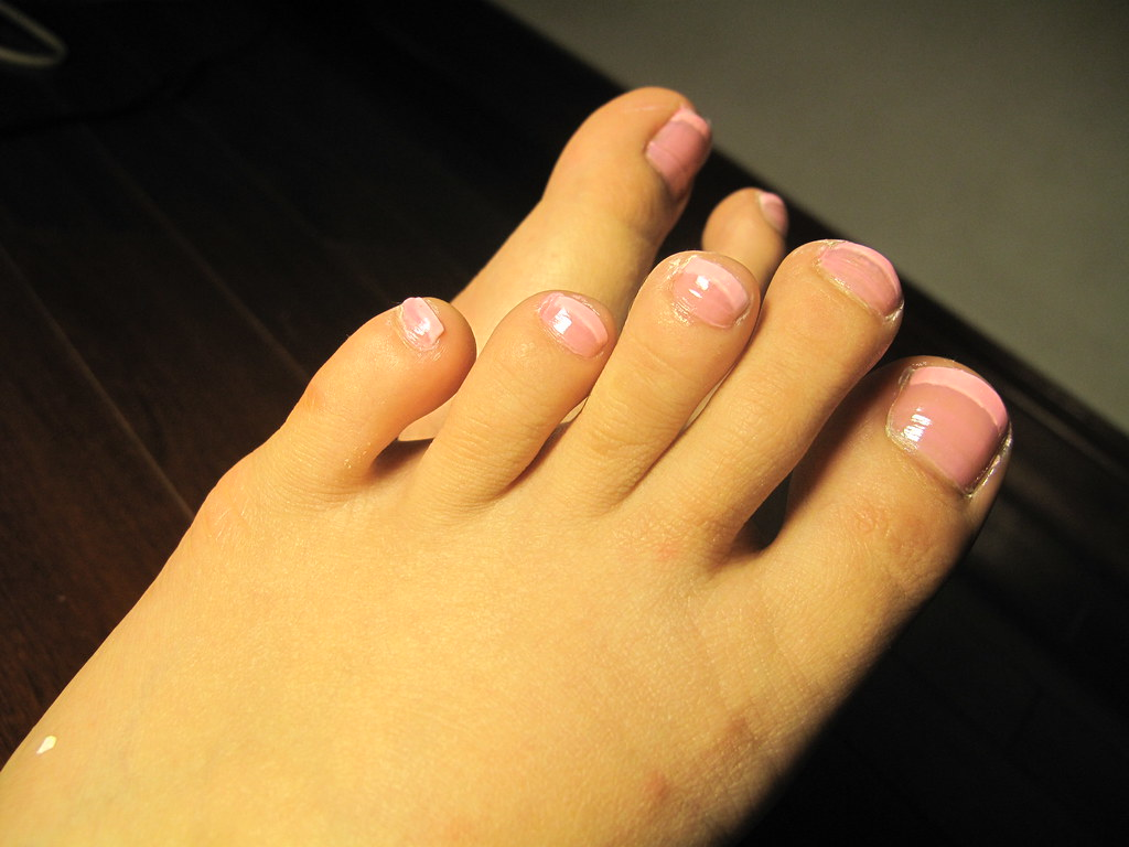 Pink French Pedicure - a photo on Flickriver