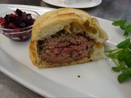 Moroccan Spiced Lamb Burger