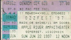 06/22/97 OzzFest @ Minneapolis, MN (Ticket)