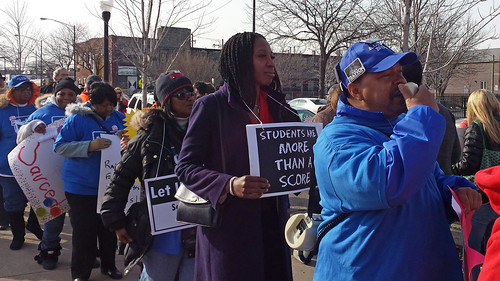 Protesting standardized testing abuse in the Chicago Public Schools