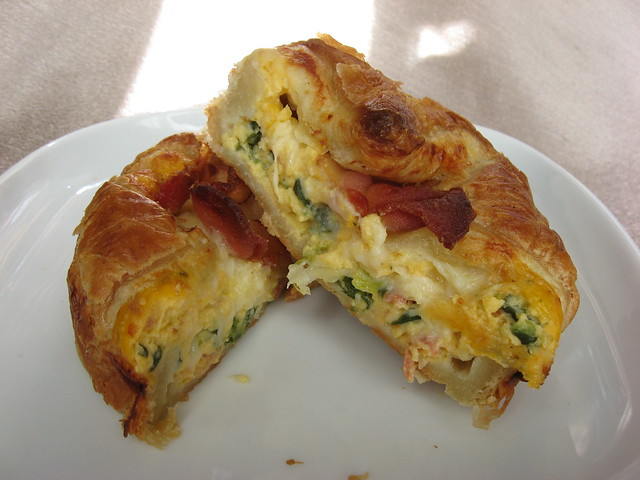 Panera Bread: Spinach and bacon baked egg souffle (sliced) | Flickr ...
