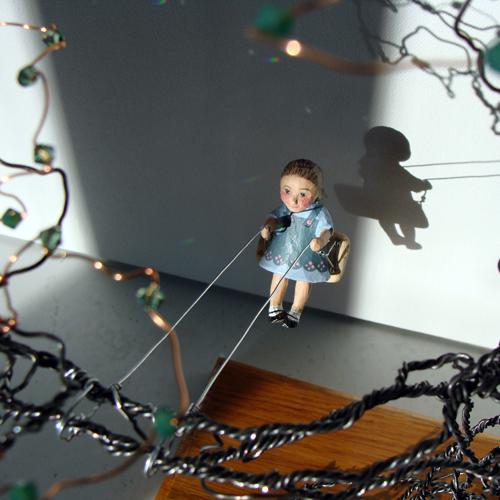 girl on swing above - photo #8