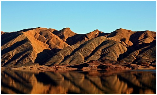 water reflection in the desert